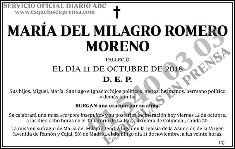 María del Milagro Romero Moreno